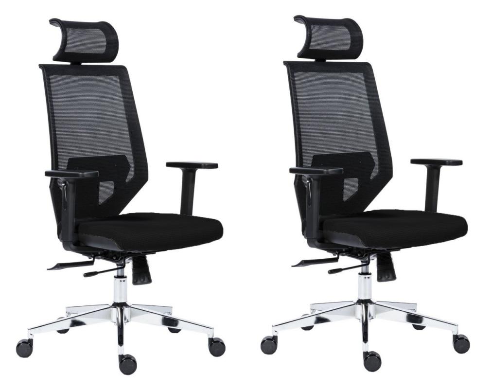 ANTARES Kancelářská židle Antares EDGE černá - 2 kusy