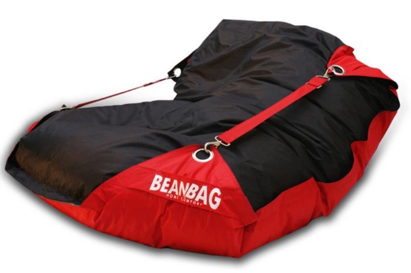 BeanBag Sedací vak 189x140 duo scarlet rose - black
