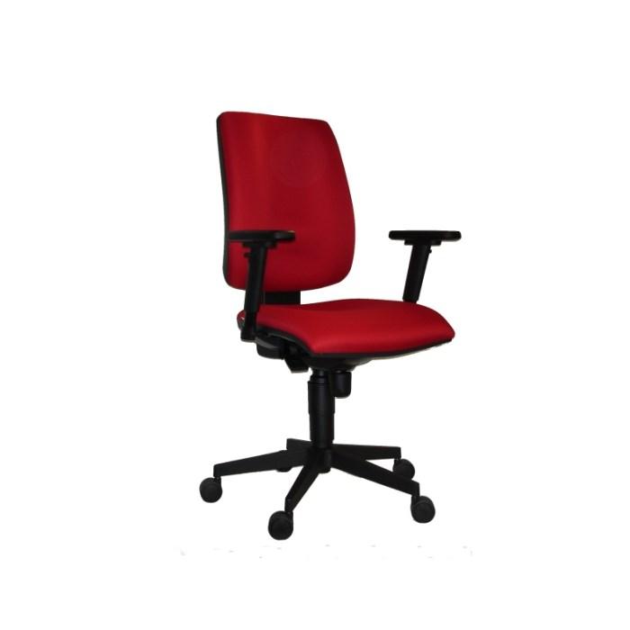 ANTARES 1380 SYN FLUTE Kancelářská židle červená s područkami AR08 Antares