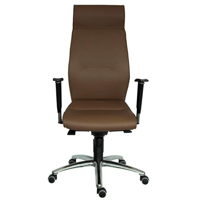 ANTARES Kancelářská židle 1800 SYN LEI kůže hnědá Antares