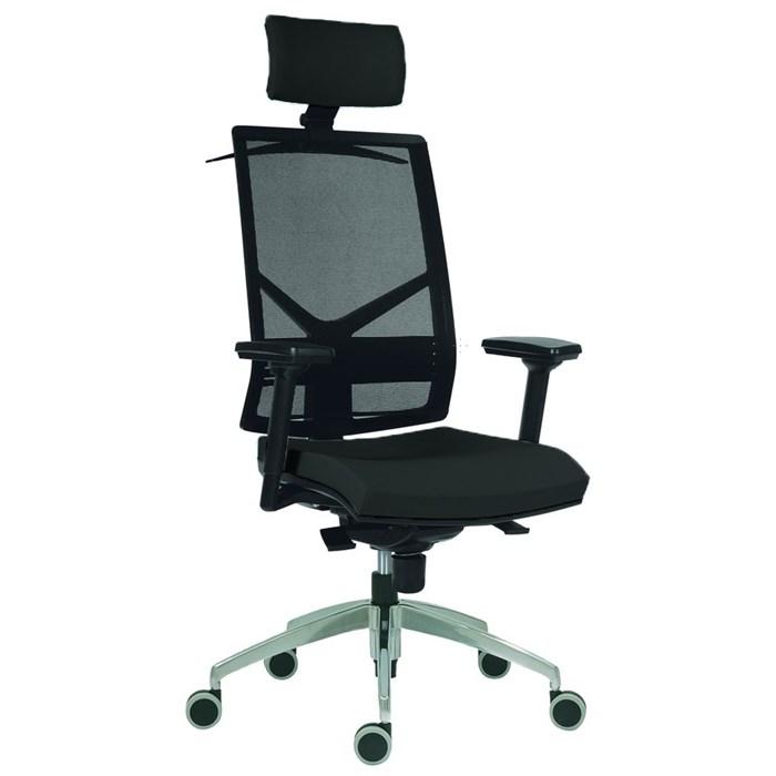 ANTARES 1850 SYN OMNIA PDH - černá Antares Kancelářská židle s hlavovou opěrkou a područkami