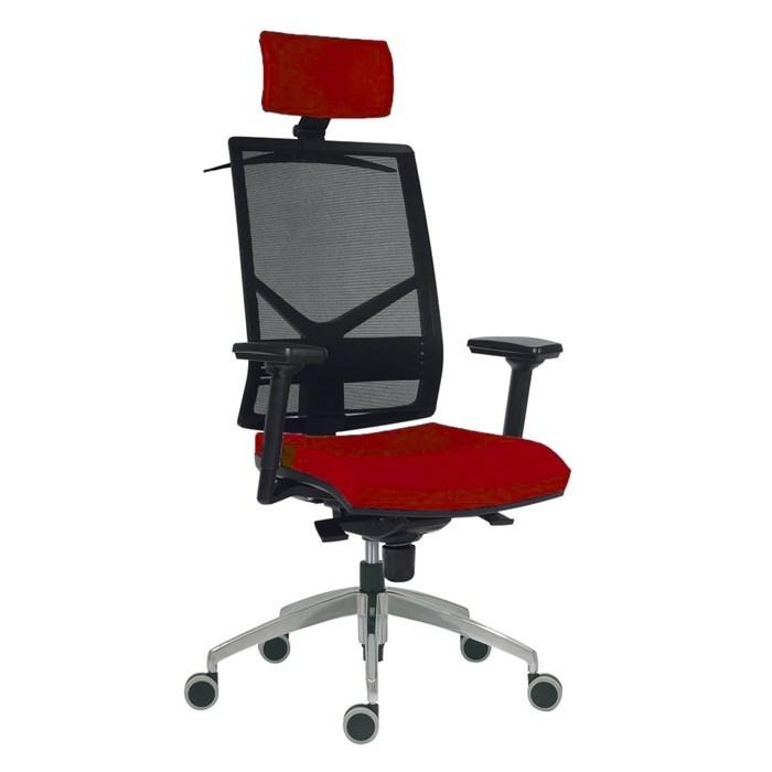 ANTARES Kancelářská židle Antares 1850 SYN OMNIA - červená s područkami a hlavovou opěrkou, záruka 5 let