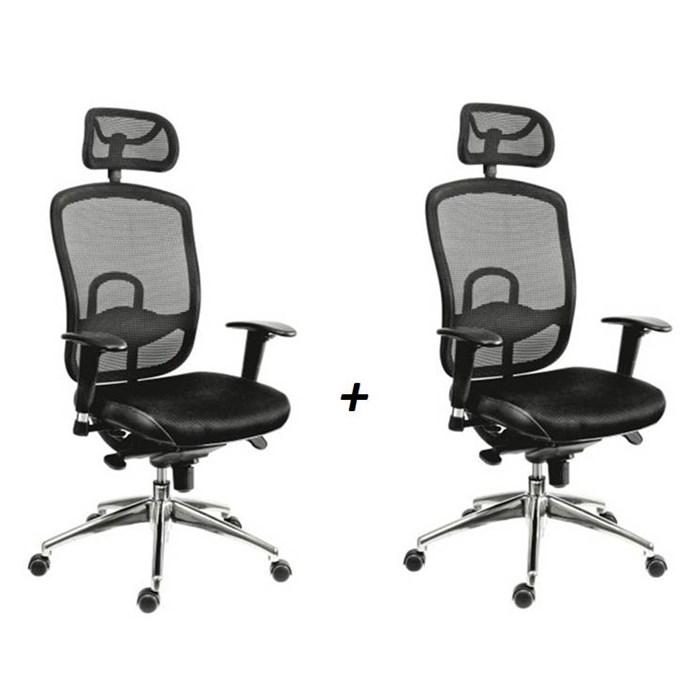 ANTARES Kancelářská židle OKLAHOMA PDH černá - 2 kusy Antares