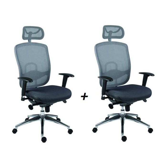 ANTARES Kancelářská židle OKLAHOMA PDH šedá - 2 kusy Antares