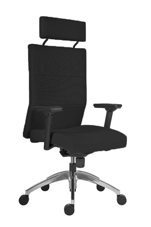 ANTARES Kancelářské křeslo Vertika PDH - černá - nosnost 160 kg